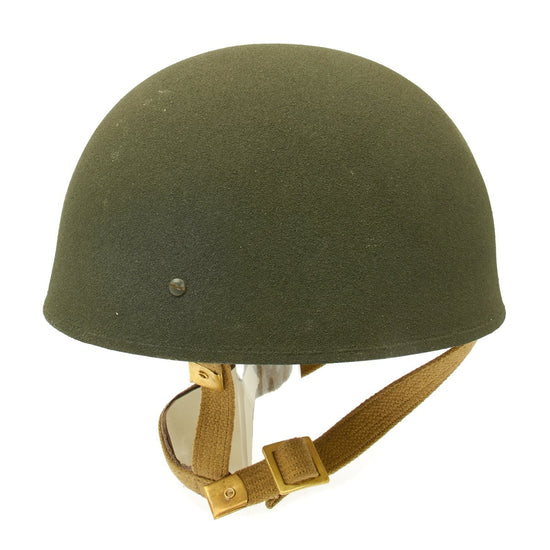 British WWII MKII Paratrooper Helmet with Canvas Chinstrap