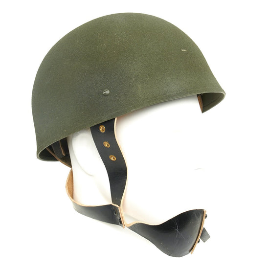 British WWII MKI Paratrooper Helmet with Leather Chinstrap System New Made Items