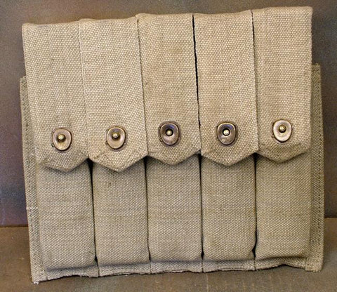 Thompson SMG 5 Cell 30 Round Magazine Pouch: Closeout Special New Made Items