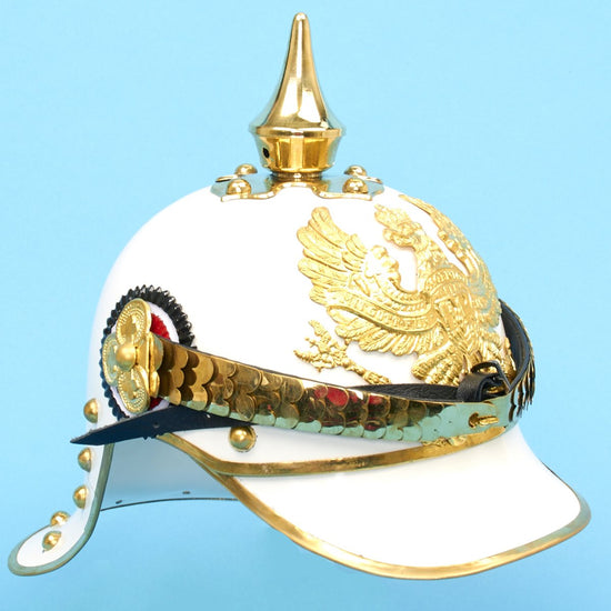 Imperial German WWI Prussian Cuirassier White Parade Spiked Helmet