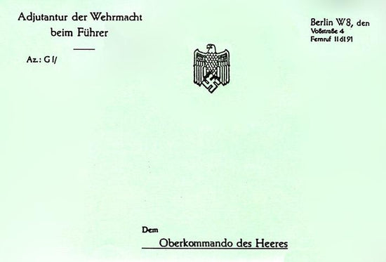 German Wehrmacht Note Pad: WWII New Made Items