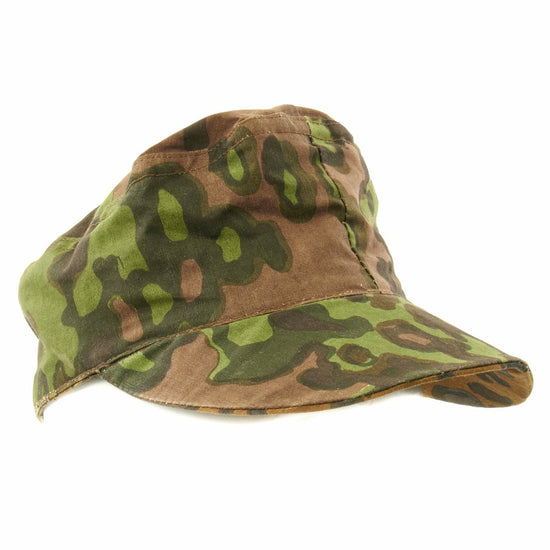German WWII Reversible M43 Field Cap- Oakleaf Pattern A Camouflage