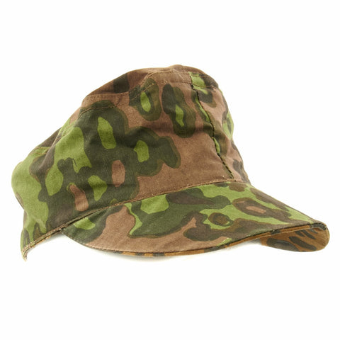 German WWII Reversible M43 Field Cap- Oakleaf Pattern A Camouflage New Made Items