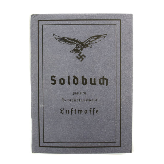 German WWII Luftwaffe Soldier Identity & Payment Book: Soldbuch New Made Items
