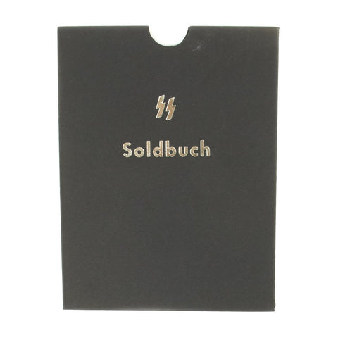 German WWII Waffen-SS Soldier Identity & Payment Book Soldbuch Slipcase