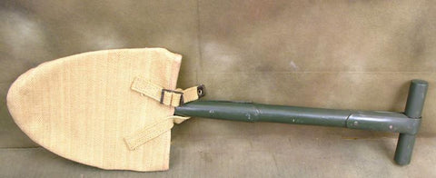 U.S. WWII Entrenching Shovel with Cover: T Handle