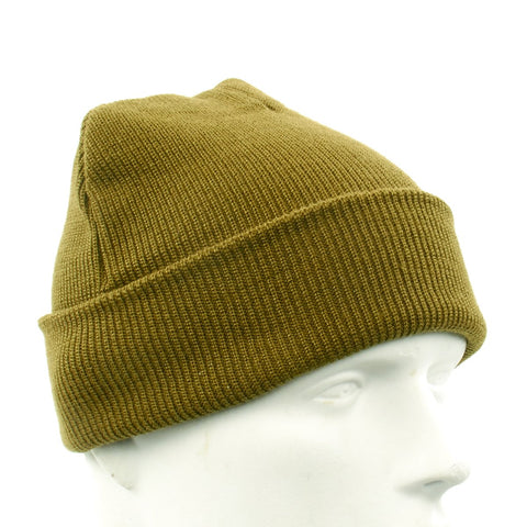U.S. WWII OD Green A4 Knit Watch Cap