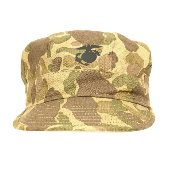U.S. WWII USMC Jungle Camouflage HBT Fatigue Cap New Made Items