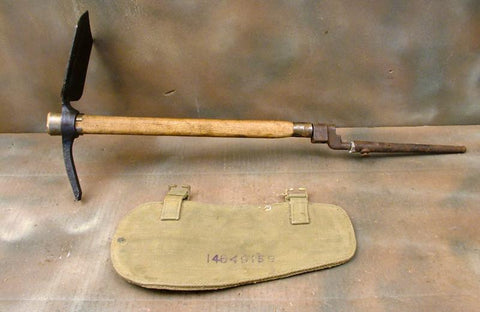 British WWII Dated Entrenching Tool Set: Late Model with #4 Spike Bayonet