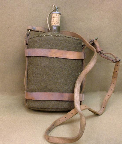 British Canteen with M-1903 Leather Carrier: WWII Issue Original Items