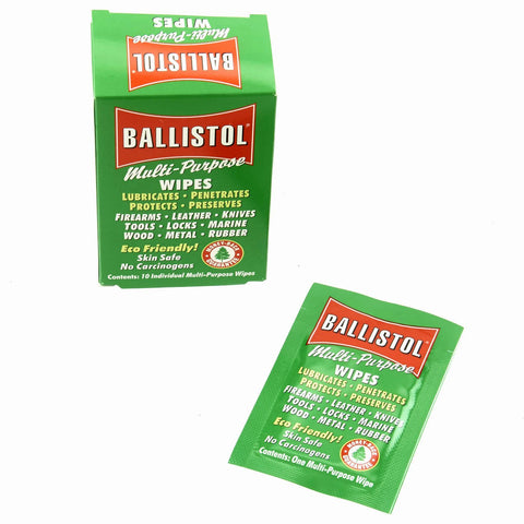 Ballistol Multi-Purpose Cleaning and Lubricating Gun Wipes Pack of 10 - Antique Gun Oil