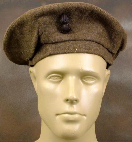 British Beret WW2 Issue Khaki: Dated WWII