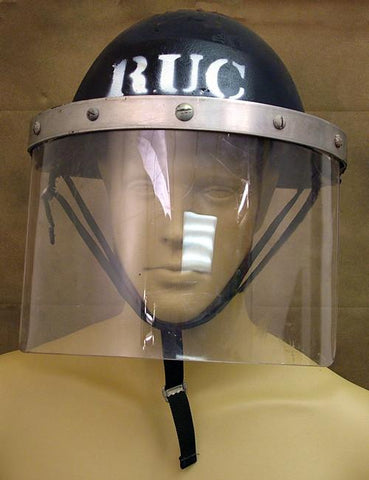 "British P-1944 Turtle MK IV Steel Riot Helmet: Marked ""RUC"" (Northern Ireland)"