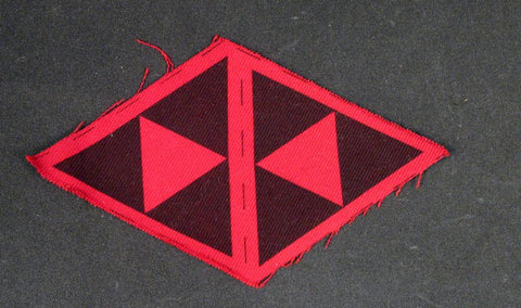 Original British WW2 Army Formation Badge: 3rd Infantry Division (Red & Black Triangles)