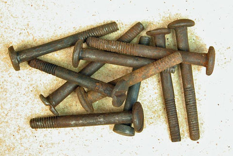 Antique Pan-Head Side Screws: 10-Pack