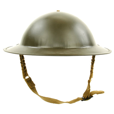 Original British WWII Brodie Steel Helmet- WWII Dated (OD Green) Original Items