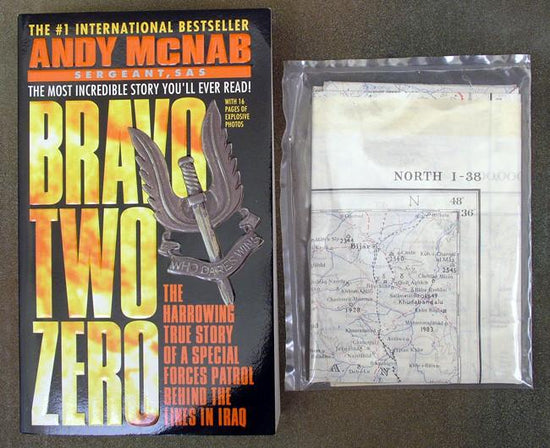 Book: Bravo Two Zero & Original Silk Map of Baghdad Iraq New Made Items