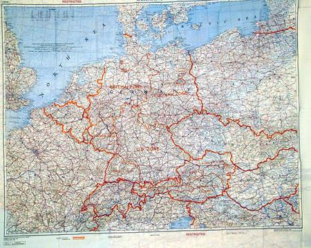 Allied German Cold War Escape Map Silk International Military