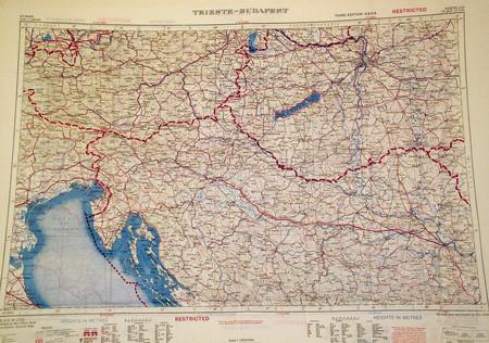 "Silk Escape & Evasion Map (WW2 Era): Vienna, Prague & Budapest (31""x 23"") Original Items"