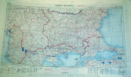 Silk Escape & Evasion Map (WW2 Era): Crete, Greek Islands/Bulgaria, Istanbul