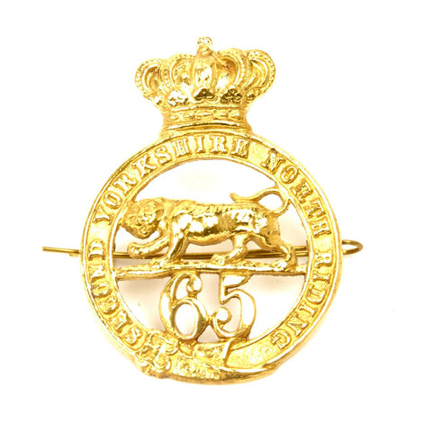 British 65th Regiment Cap Badge