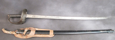 British P-1899 Cavalry Sword & Scabbard: Original Issue Original Items