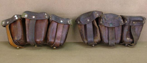 Original German WWI Ammunition Pouches Set of 2