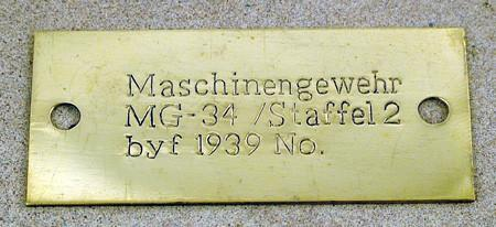 MG 34 Generic Data Plate