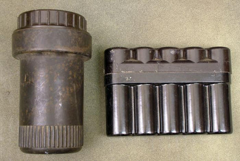 German Artillery Fuse Container Set: WWII Dated Original Items
