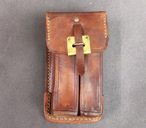 German MP28 SMG 20rnd Magazine Double Leather Pouch