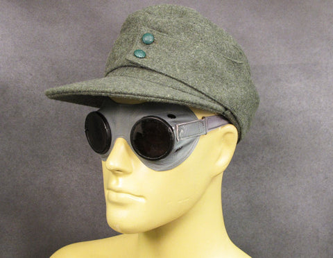 German WW2 Mountain & Motorized Troop Goggles: Carl Zeiss- Umbral Original Items