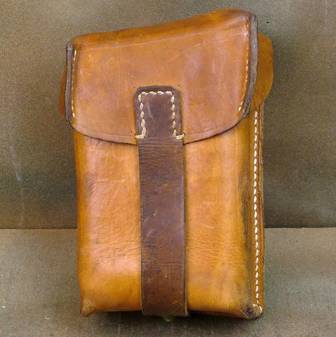 ZB Leather Belt Double Magazine Pouch
