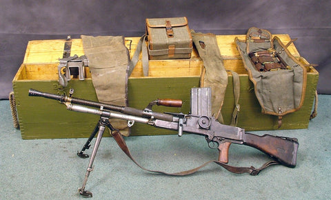 German ZB26/30(t) WW2 Display LMG (Czech) w/ Transit Chest & Accessories