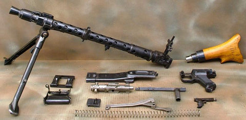 German WWII MG 34 Parts Set