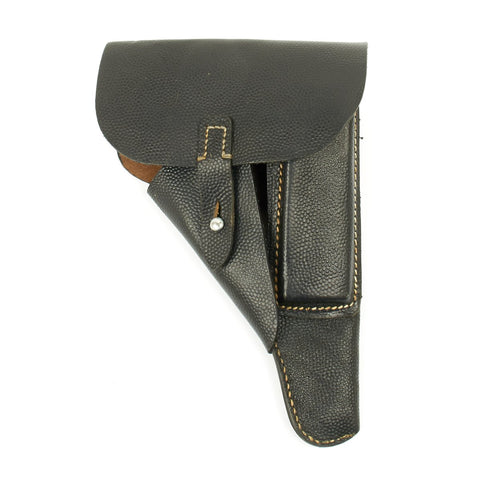 Original German WWII Walther P38 Black Pebble Grain Softshell Holster