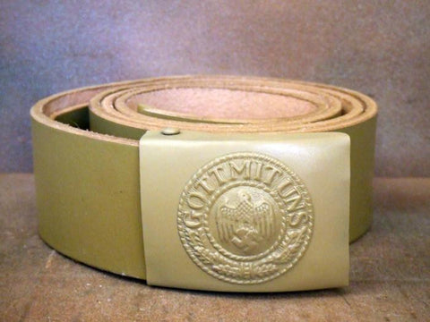 German WWII Waist Belt with Buckle: Afrika Korps New Made Items