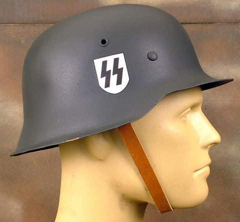 German M-42 Restored SS Decal Steel Helmet