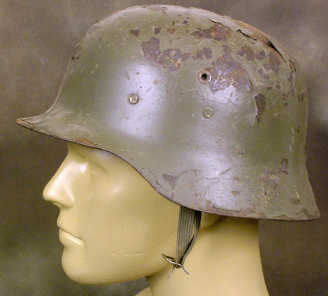 German M-42 Style Steel Helmet from Spain: Grade 2 (Closeout Special)
