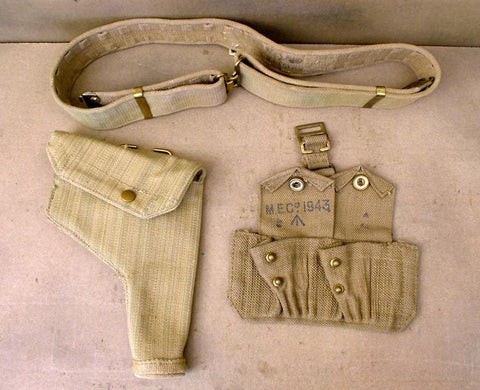 Holster, Belt & Ammunition Pouch Set .38cal Original Items