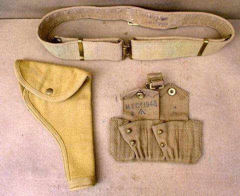 Holster, Belt & Ammunition Pouch Set .38/.455cal Original Items