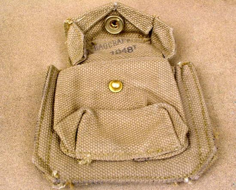British WWII Tan Ammunition Pouch Original Items