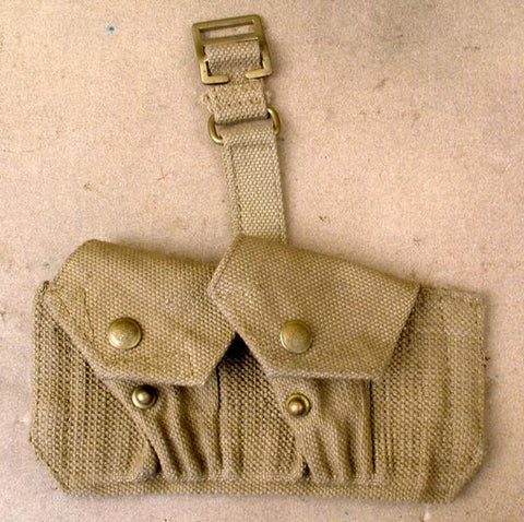 British Tan Web .455 Double Ammuntion Pouch: WWII Style