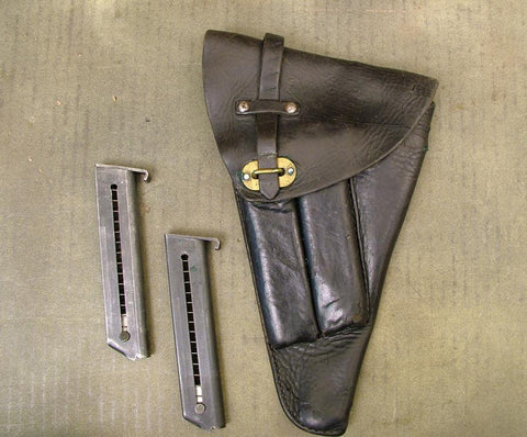 Swedish M-1940 Lahti Pistol Holster with Two Magazines