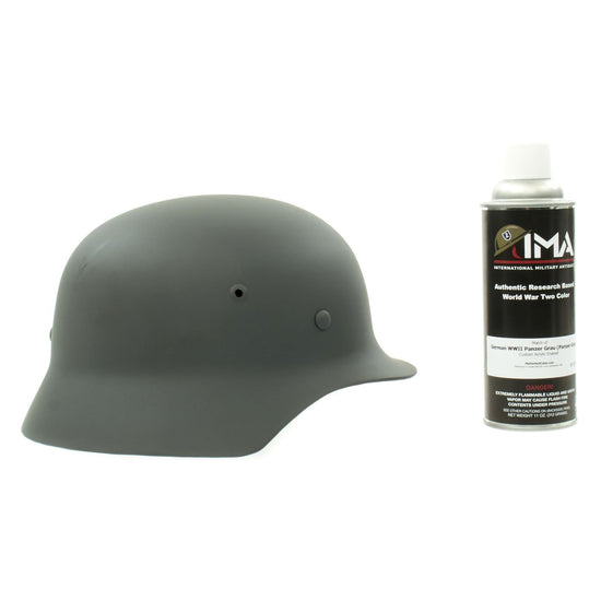 Spray Paint - German WWII Helmet Gray Custom Acrylic Enamel Panzergrau Spray Paint New Made Items