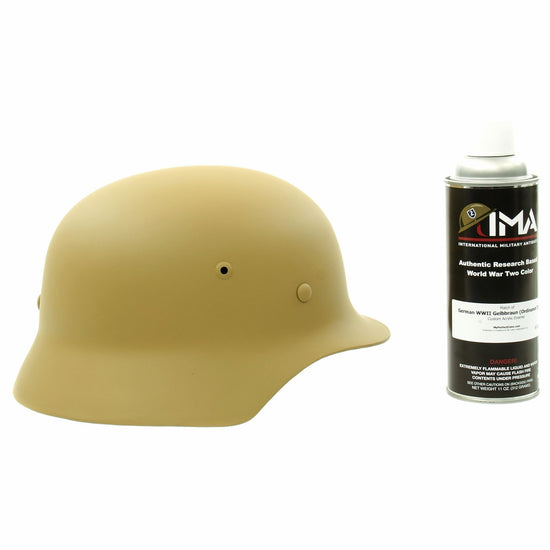 Spray Paint - German WWII Helmet Tan Custom Acrylic Enamel Gelbbraun Spray Paint New Made Items