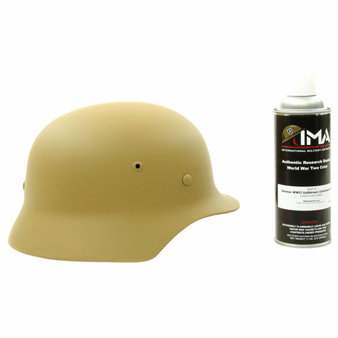 Spray Paint - German WWII Helmet Tan Custom Acrylic Enamel Gelbbraun Spray Paint