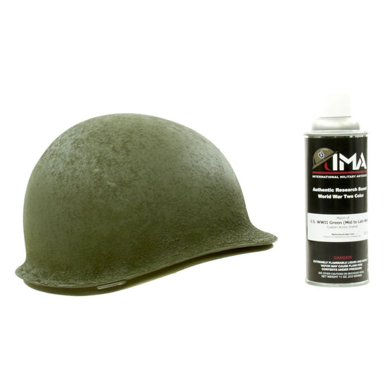 Spray Paint - U.S. WWII M1 Helmet OD Green Acrylic Enamel Spray Paint New Made Items
