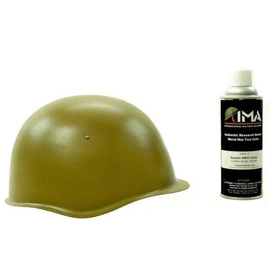 Spray Paint - Russian WWII Green Helmet Acrylic Enamel Spray Paint New Made Items