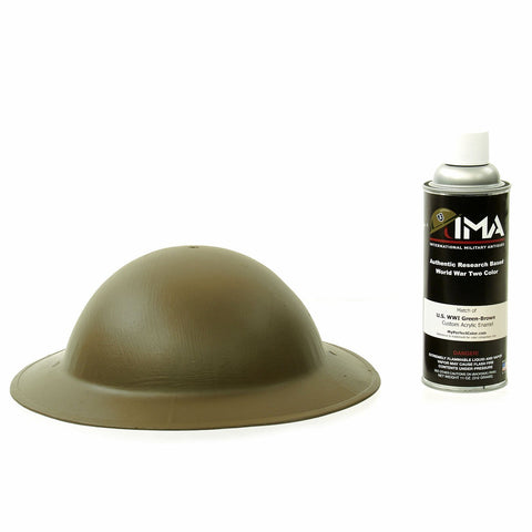Spray Paint - U.S. WWI Helmet Green Brown Acrylic Enamel Spray Paint New Made Items