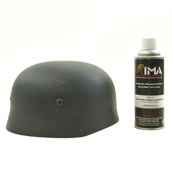 Spray Paint - German WWII Feldblau Luftwaffe Blue Helmet Acrylic Enamel Spray Paint New Made Items